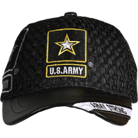 Caps - Leather Brim - Army Strong - Black