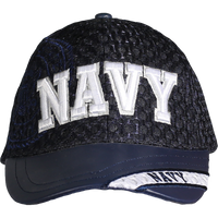 Caps - Leather Brim - Navy - Navy