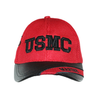 US Marines Leather Brim Cap