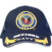 Caps - Mesh - Retired - Navy