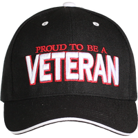 Proud to be a Veteran Black Cap