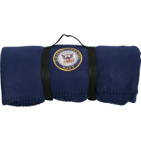 US Navy Polar Fleece Blue Blanket