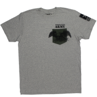 MADE IN USA Colored Pocket  T-Shirt - Army