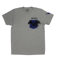 MADE IN USA Colored Pocket  T-Shirt - Air Force