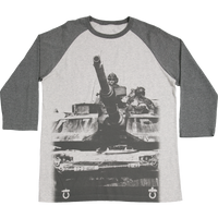 MADE IN USA Baseball  T-Shirt - Army