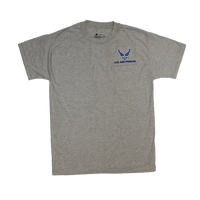 T-Shirts - Pocket - Air Force Heather