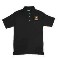 Golf Shirts - Pocket - Army Black 5 --00059-7