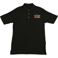 Golf Shirts - Pocket - Vietnam Veteran Black