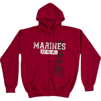 Hoodies - Vintage Wash Zip - Marines