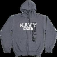 Hoodies - Vintage Wash Zip - Navy