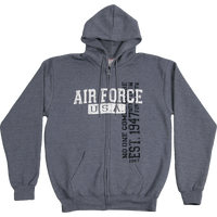 Hoodies - Vintage Wash Zip - Air Force