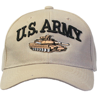 Embroidered US Army Cap with Tank