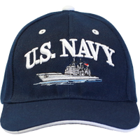 Caps - Navy with Ship