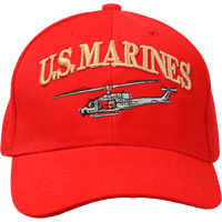 Embroidered US Marines Cap with Huey Helicopter