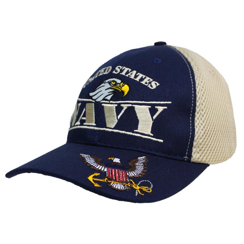 e6146881b0417 MADE IN USA Caps Foam Mesh - Navy
