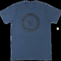 USA Made Mono Gloss T-Shirts - Navy