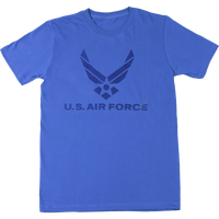USA Made Mono Gloss T-Shirts - Air Force