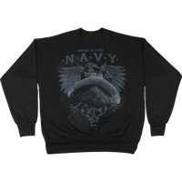 Made in the USA: US Navy Graphic Crew Neck  Sweatshirt