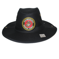 Military Hunter Hats - Marines - Black