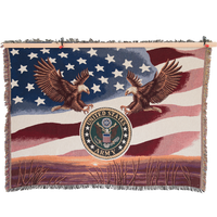 MADE IN USA 50 X 60 Tapestry Blanket - Army