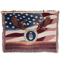MADE IN USA 50 X 60 Tapestry Blanket - Air Force