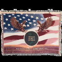 MADE IN USA 50 X 60 Tapestry Blanket - Vietnam Veteran