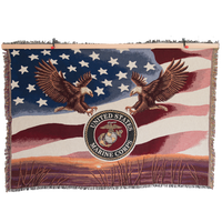 MADE IN USA 50 X 60 Tapestry Blanket - Marines