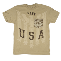 MADE IN THE USA - Camo Pocket T-shirt - Navy