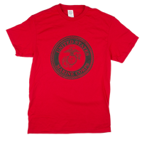 Made in the USA: US Marines Solid Color Front Logo T-shirt