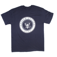 MADE IN THE USA -1 Color Front Logo T-shirt - Navy
