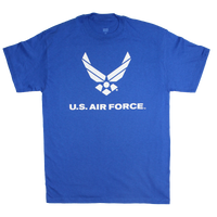 Made in the USA: US Air Force Solid Color Logo Front T-shirt