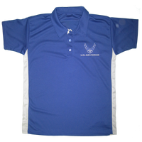 MADE IN USA Performance Polo Shirt - Air Force
