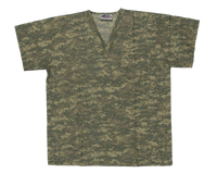 Digital Camo Scrub Top