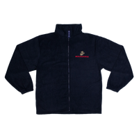 Made in the USA: US Marines Black Fleece Zip-up Jacket
