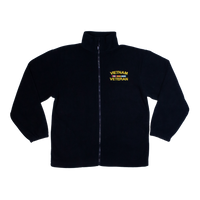 Made in the USA: Vietnam Veteran Black Fleece Zip-up Jacket