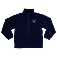 Made in the USA: US Air Force Blue Fleece Zip-up Jacket