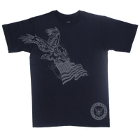 MADE IN USA Eagle Flag T-shirt - Navy
