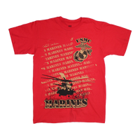 MADE IN USA Repeat T-Shirt - Marines