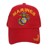 Caps - Shadow Embroidery - Marines - Red