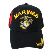 US Marines Black Shadow Embroidery Cap
