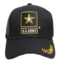 US Army Black Shadow Embroidery Cap