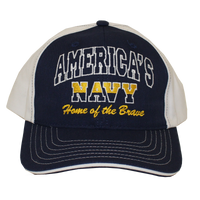 MADE IN USA Caps - Home of the Brave - Navy