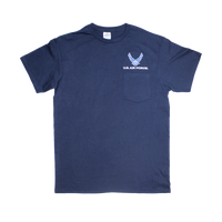 T-Shirts - Pocket - Air Force Blue