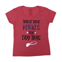 Made in the USA: Women's Trade Your Pearls T-shirt