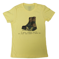 Made in the USA: Women's I Wore Combat Boots T-shirt