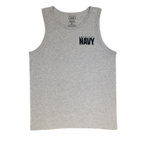 MADE IN USA Slogan Tank - Navy