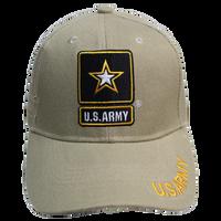 Caps -Shadow Embroidery - Army Khaki
