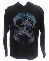 USA Made Foil T-Shirt Hoodie - Air Force