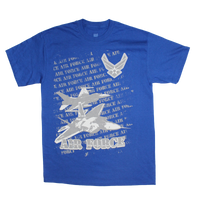 MADE IN USA Repeat T-Shirt - Air Force