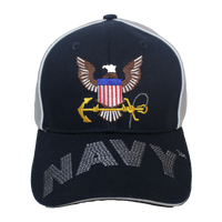 Caps - Piped - Navy